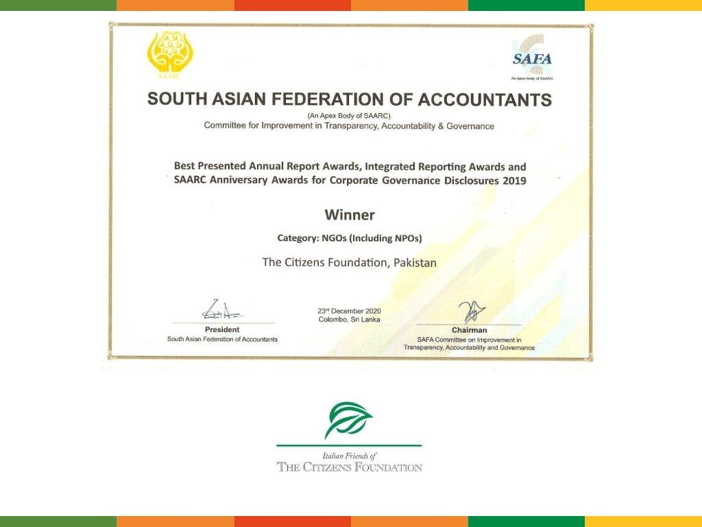 TCF vince il Best Presented Annual Report Award per il 2019